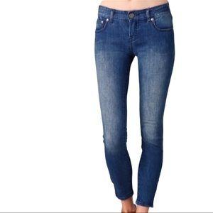 Free People Zipper Ankle Blue Denim Jeans